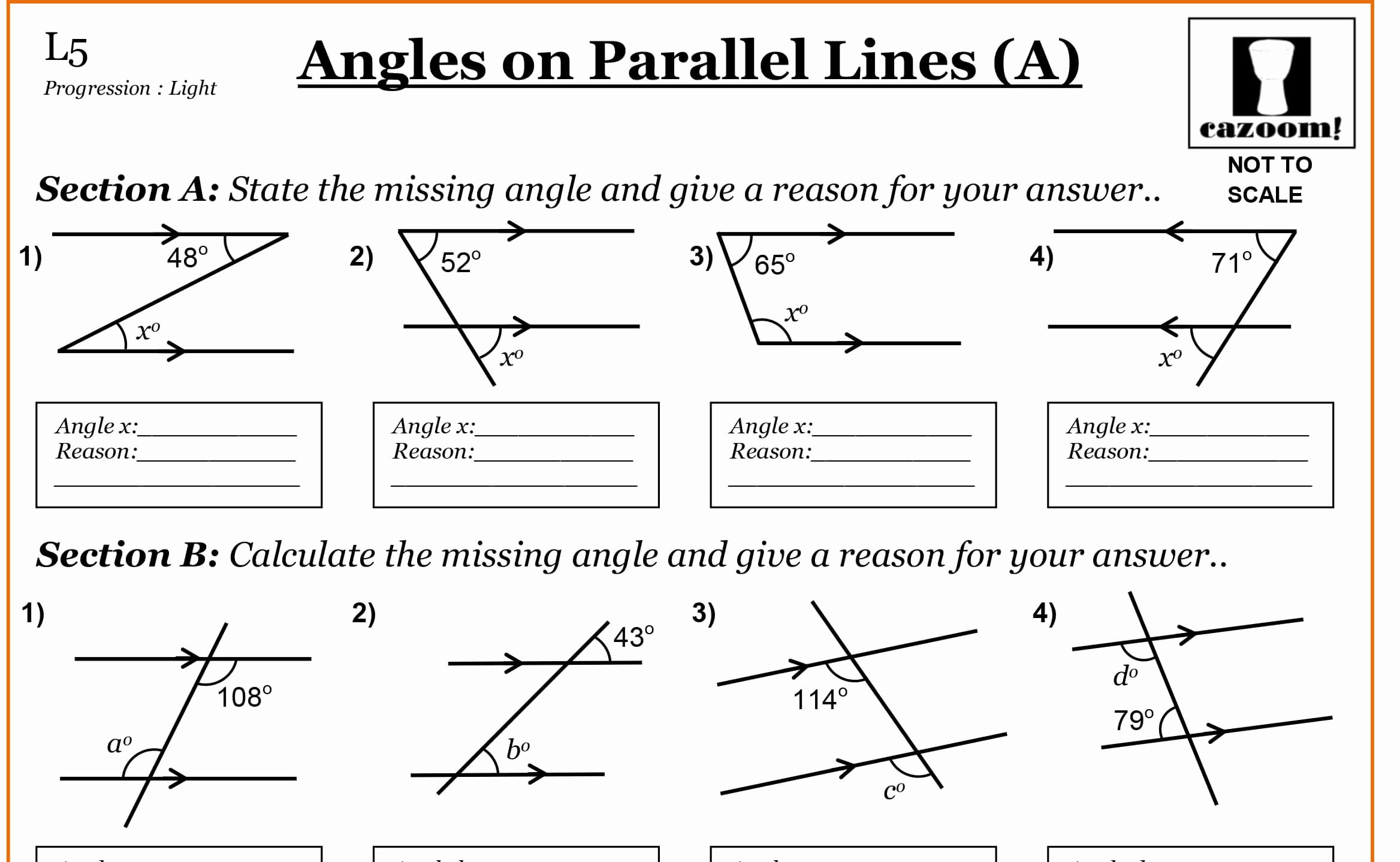 50 Lines And Angles Worksheet