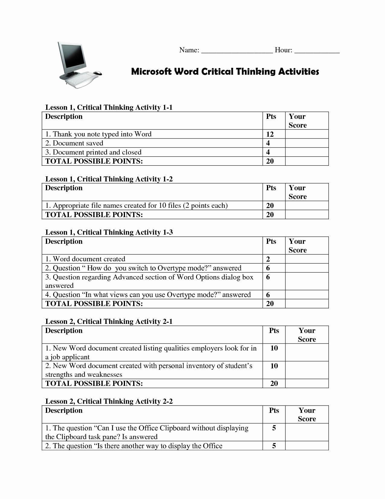 50 Making Good Choices Worksheet