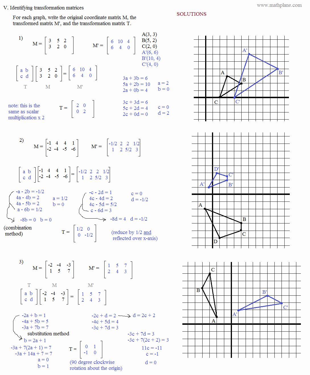 50 Matrices Word Problems Worksheet