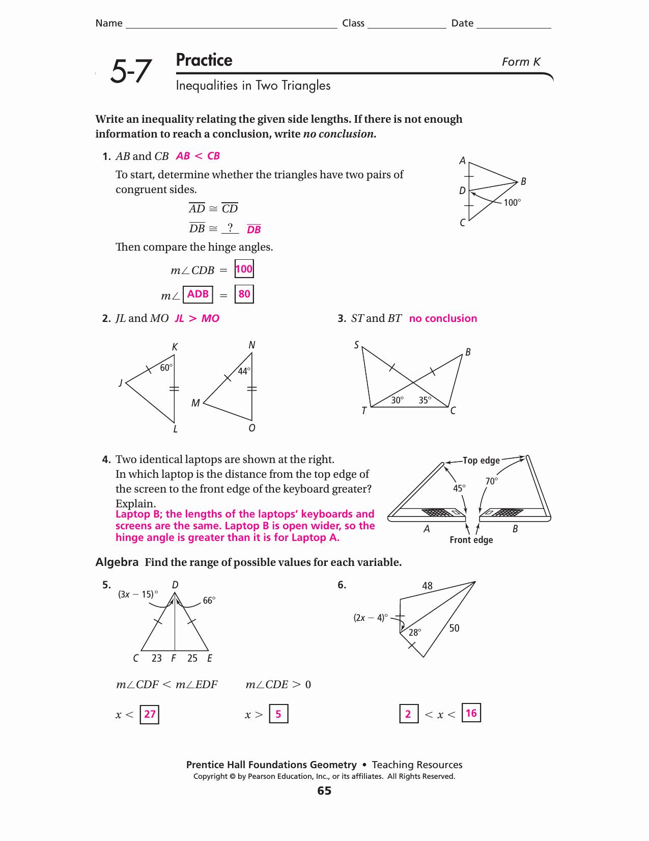 50 Midsegment Theorem Worksheet Answer Key