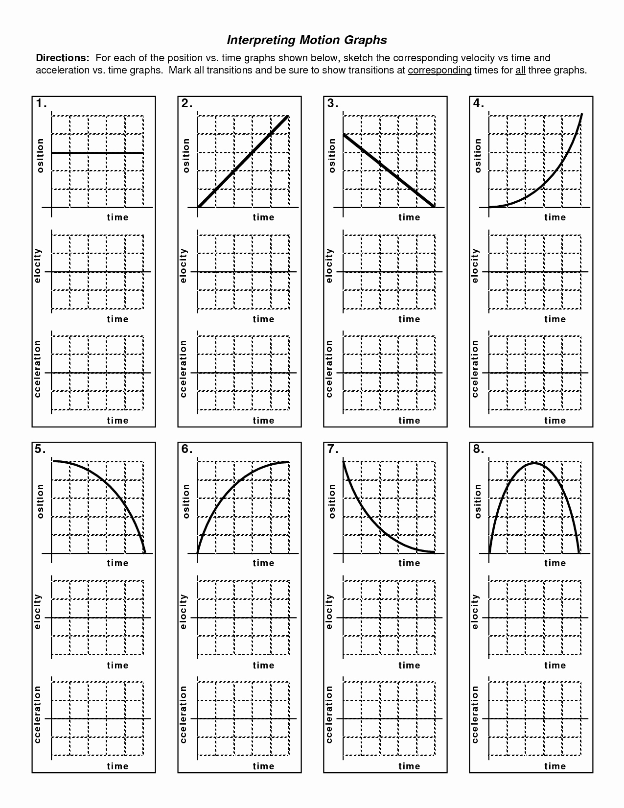 50 Motion Graphs Worksheet Answers