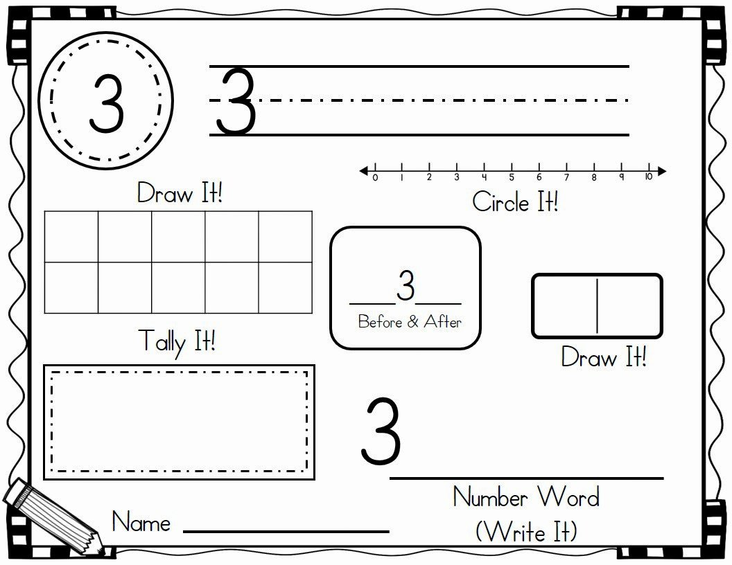 Number Of The Day Worksheet Awesome New Kindergarten
