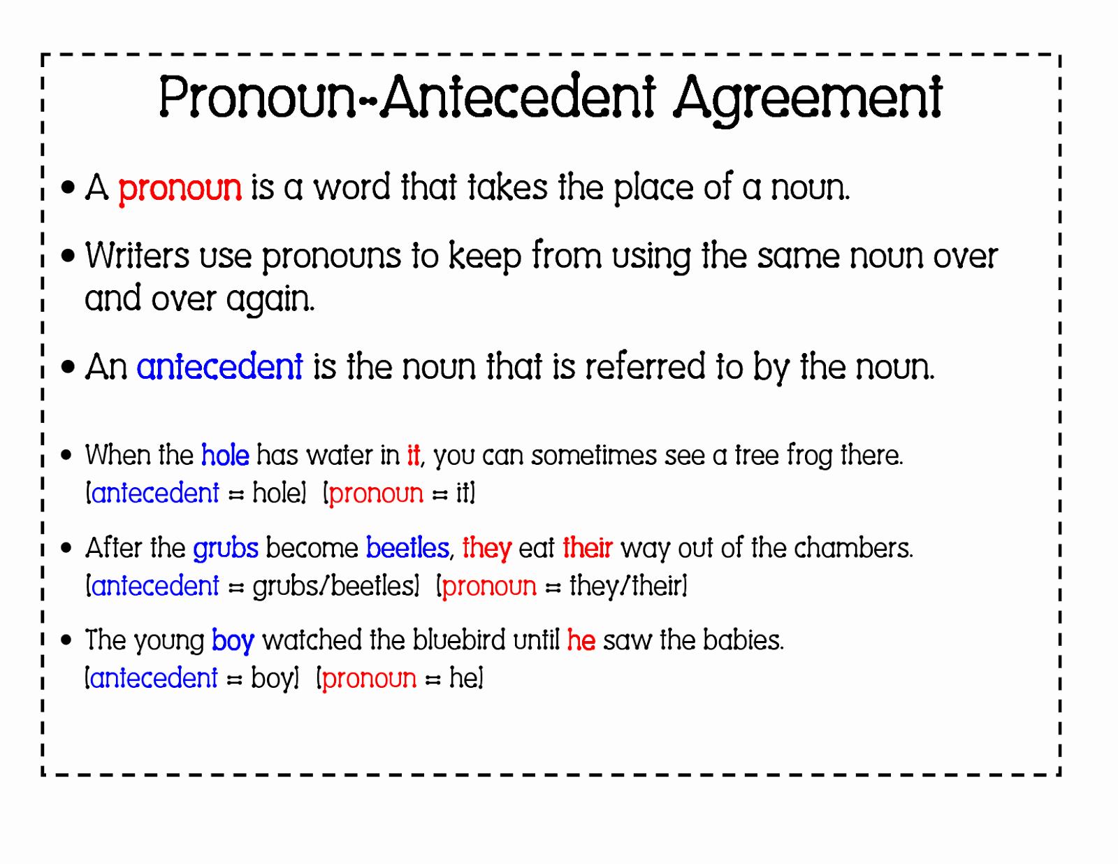 50 Pronoun Antecedent Agreement Worksheet