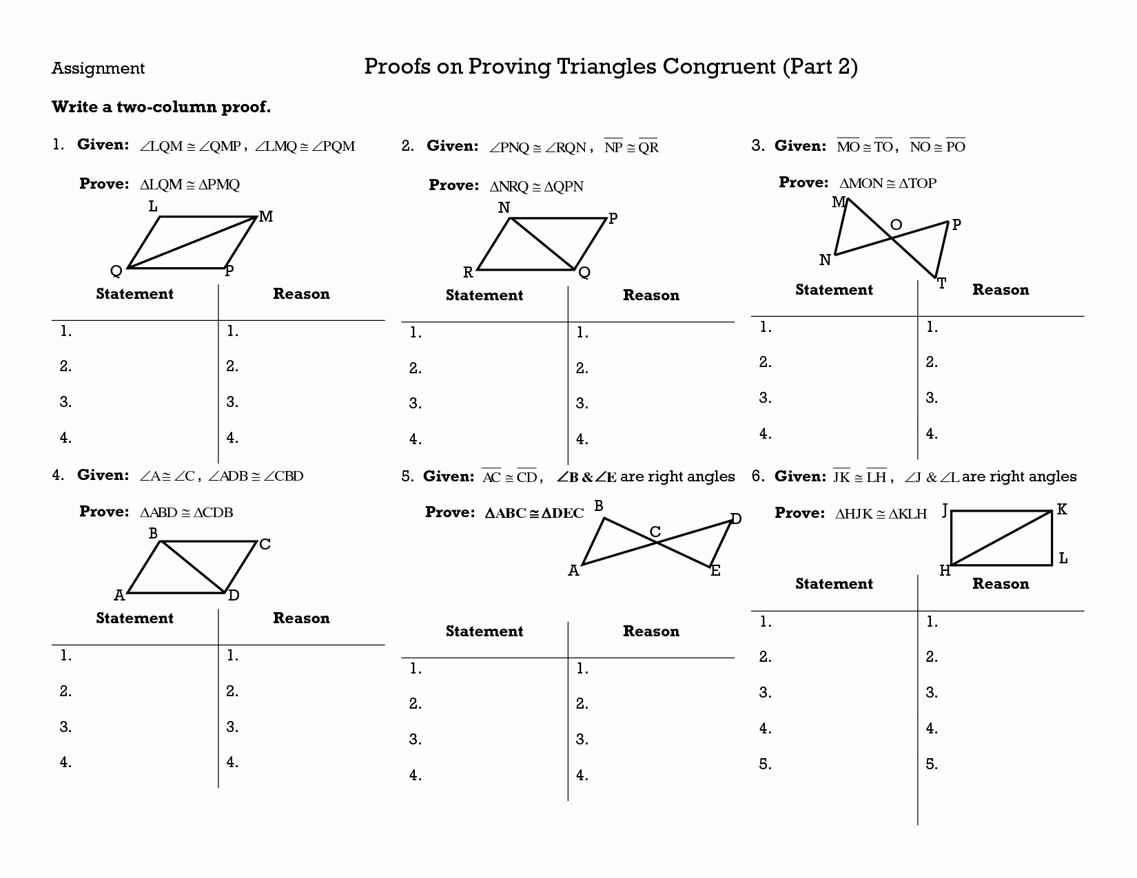 50 Proving Triangles Congruent Worksheet