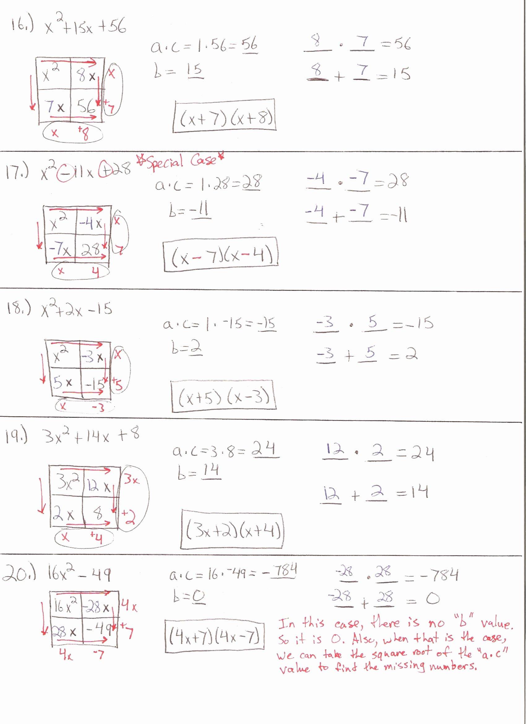 50 Quadratic Word Problems Worksheet