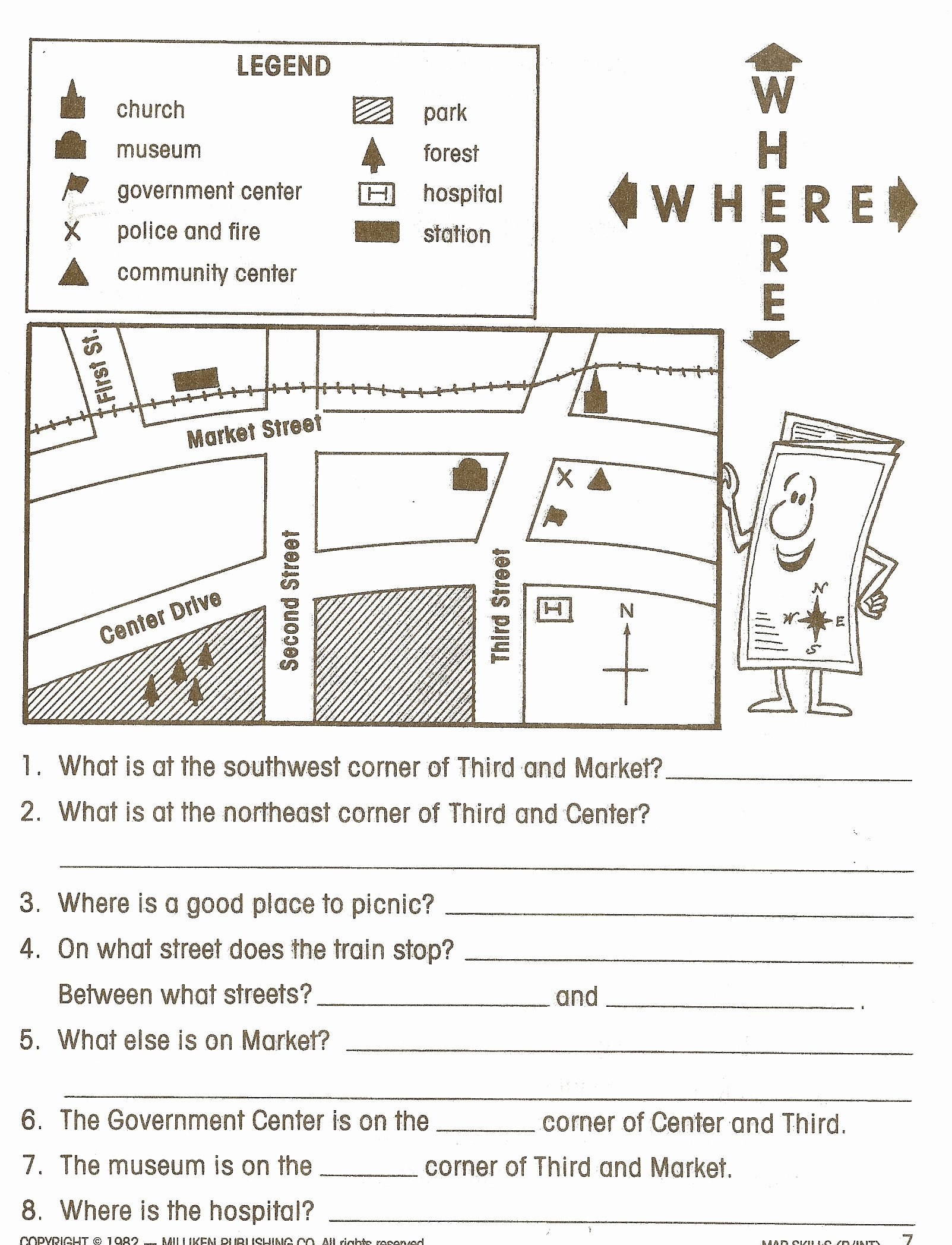 Reading A Map Worksheet New Social Stu S Skills
