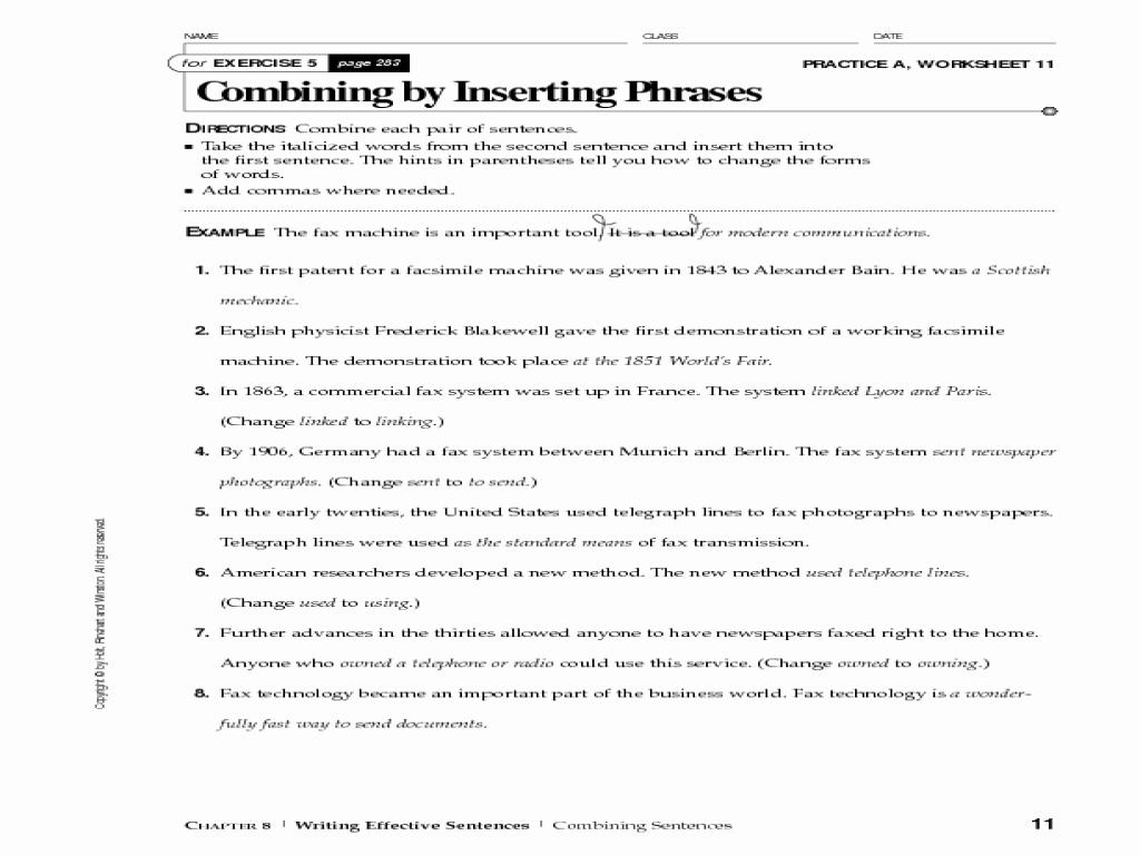 50 Run On Sentence Worksheet