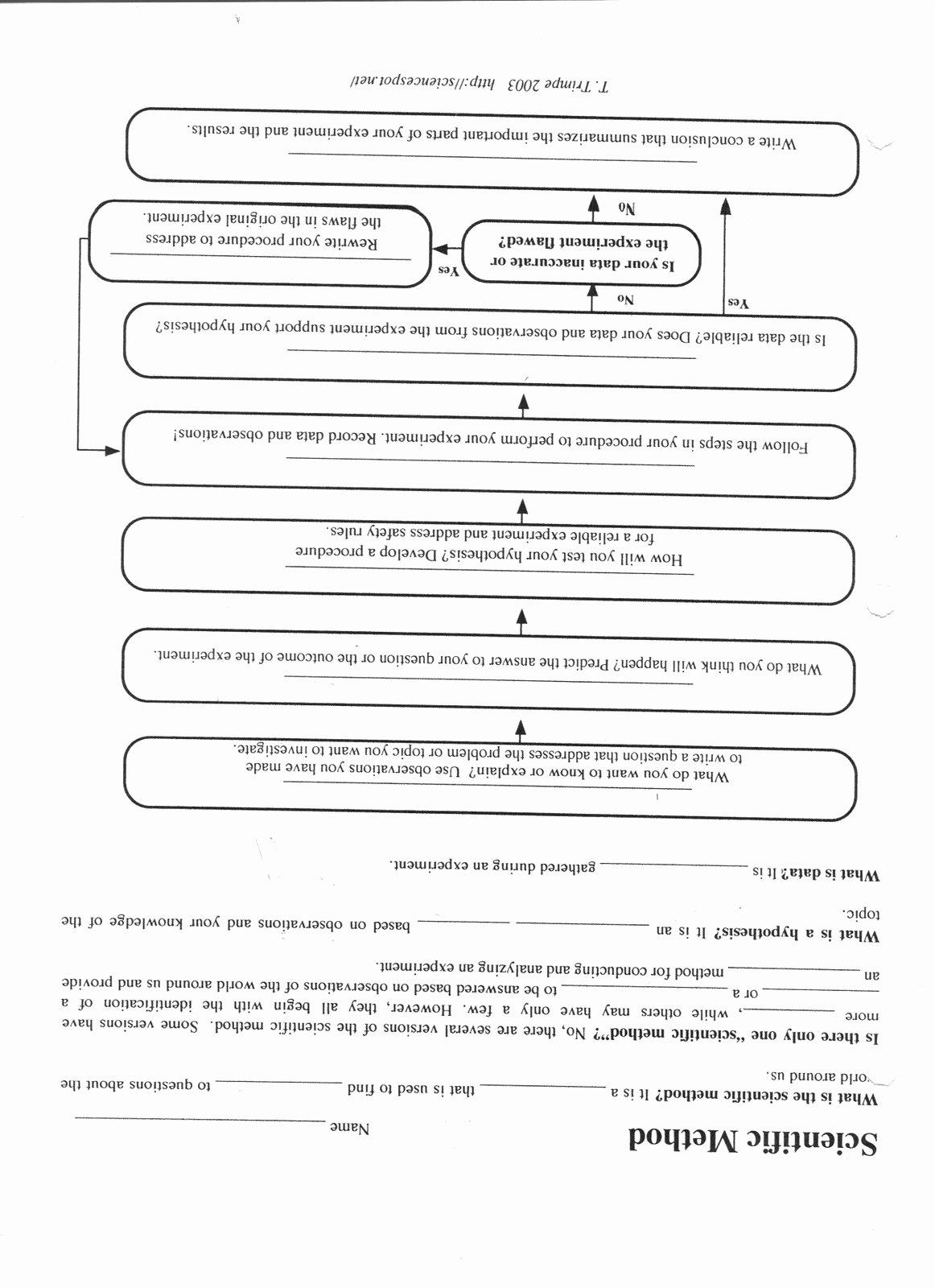 50 Scientific Method Examples Worksheet