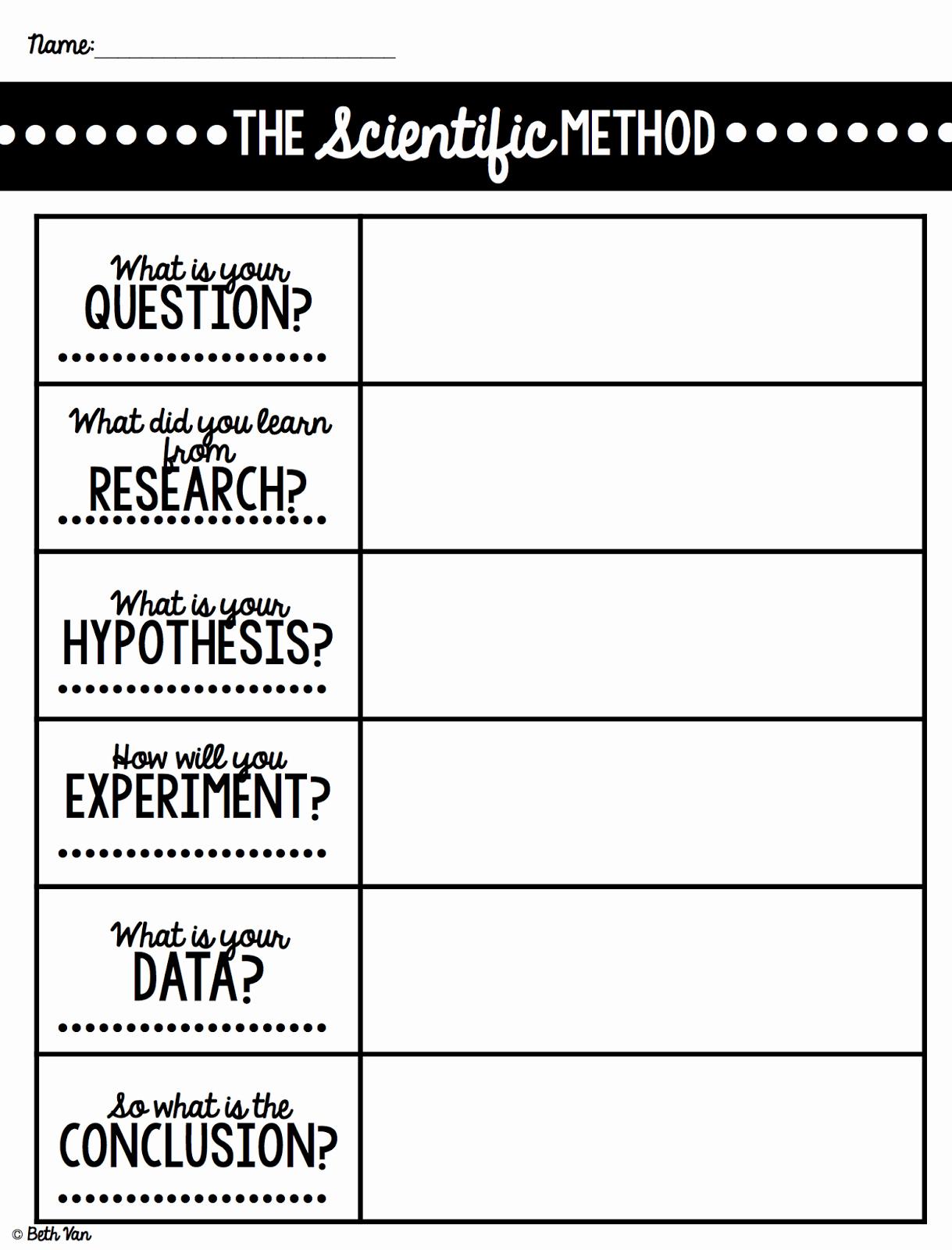 50 Scientific Method Steps Worksheet