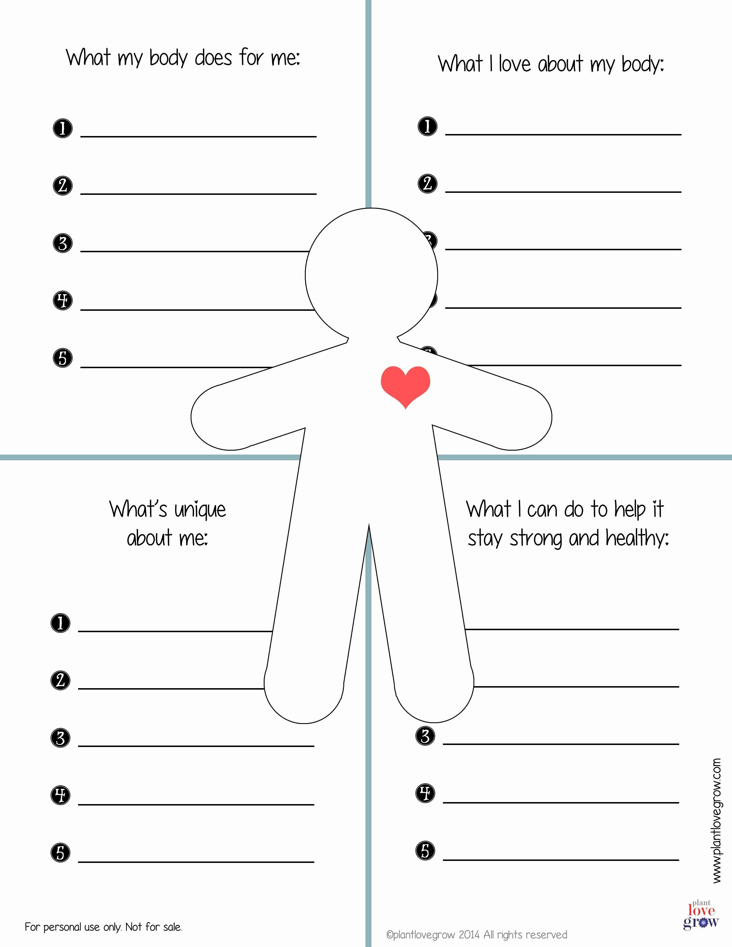 50 Self Esteem Worksheet For Adults
