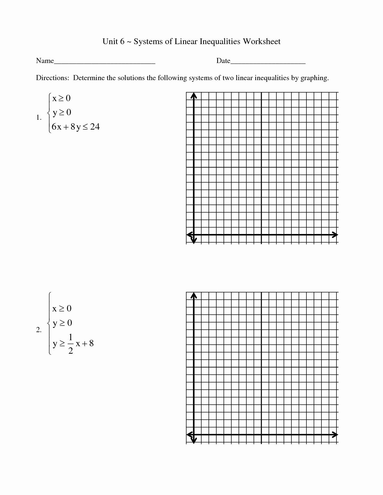 50 Solving Linear Inequalities Worksheet