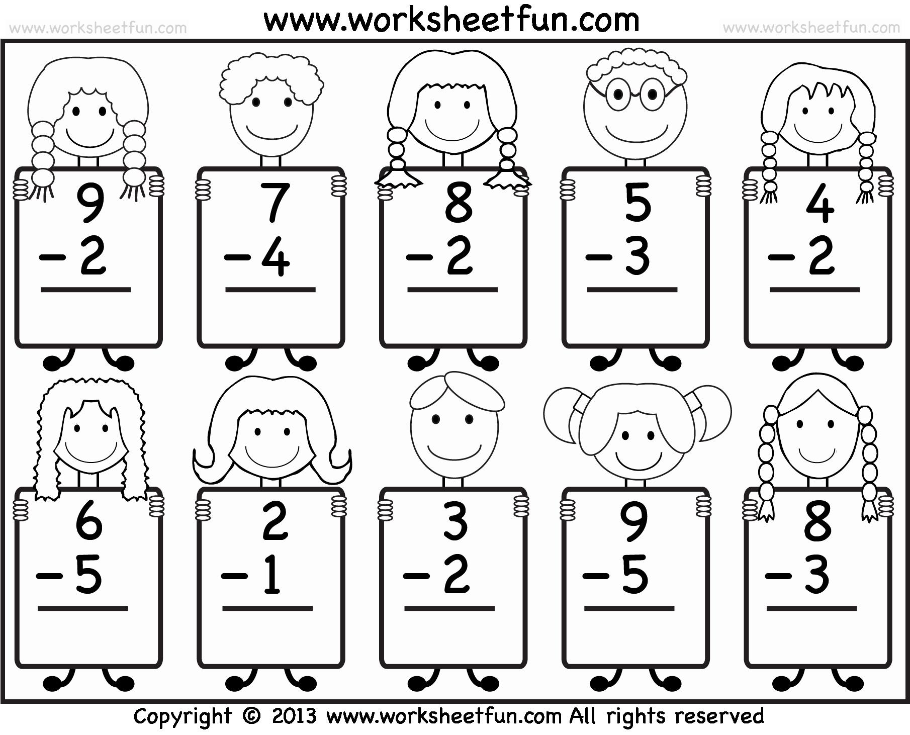 50 Subtraction Worksheet For Kindergarten