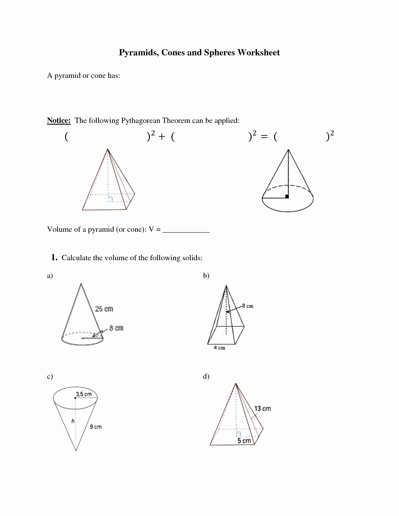 Surface Area Of Pyramid Worksheet Awesome Surface Area And