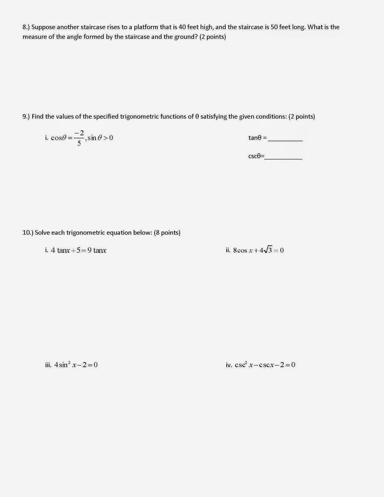 50 Verifying Trig Identities Worksheet