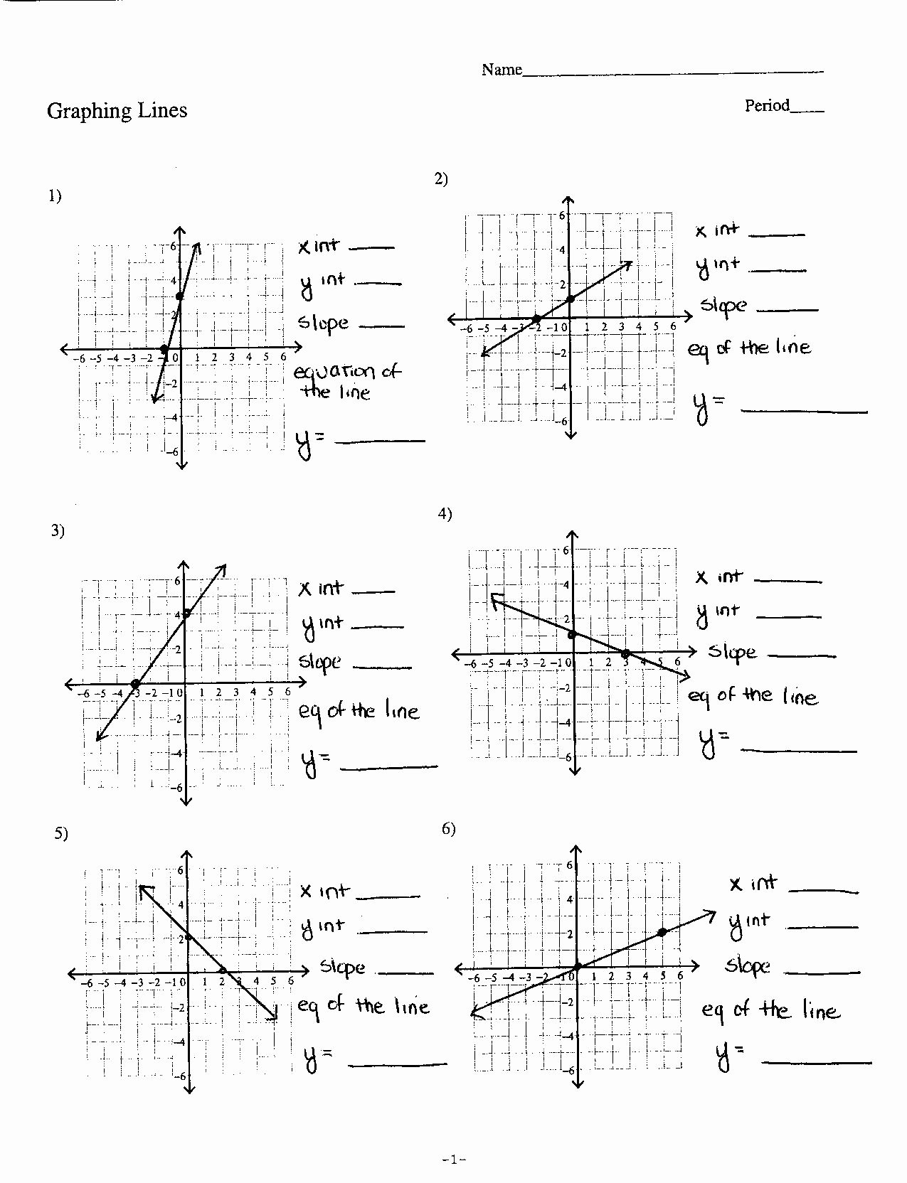 50 Writing Equations Of Lines Worksheet