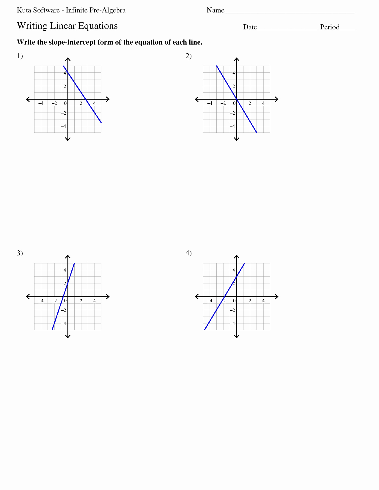 50 Writing Linear Equations Worksheet Answers