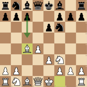 Black accepts the queen's gambit and now strikes in the center