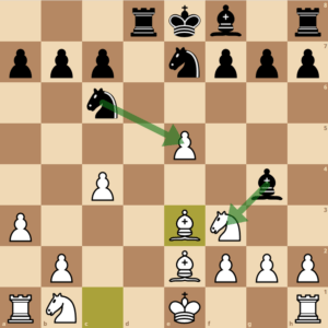 Black regains a pawn