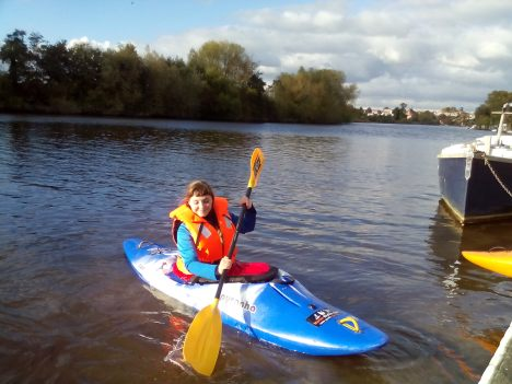 Kayak chester lessons coaching on River Dee