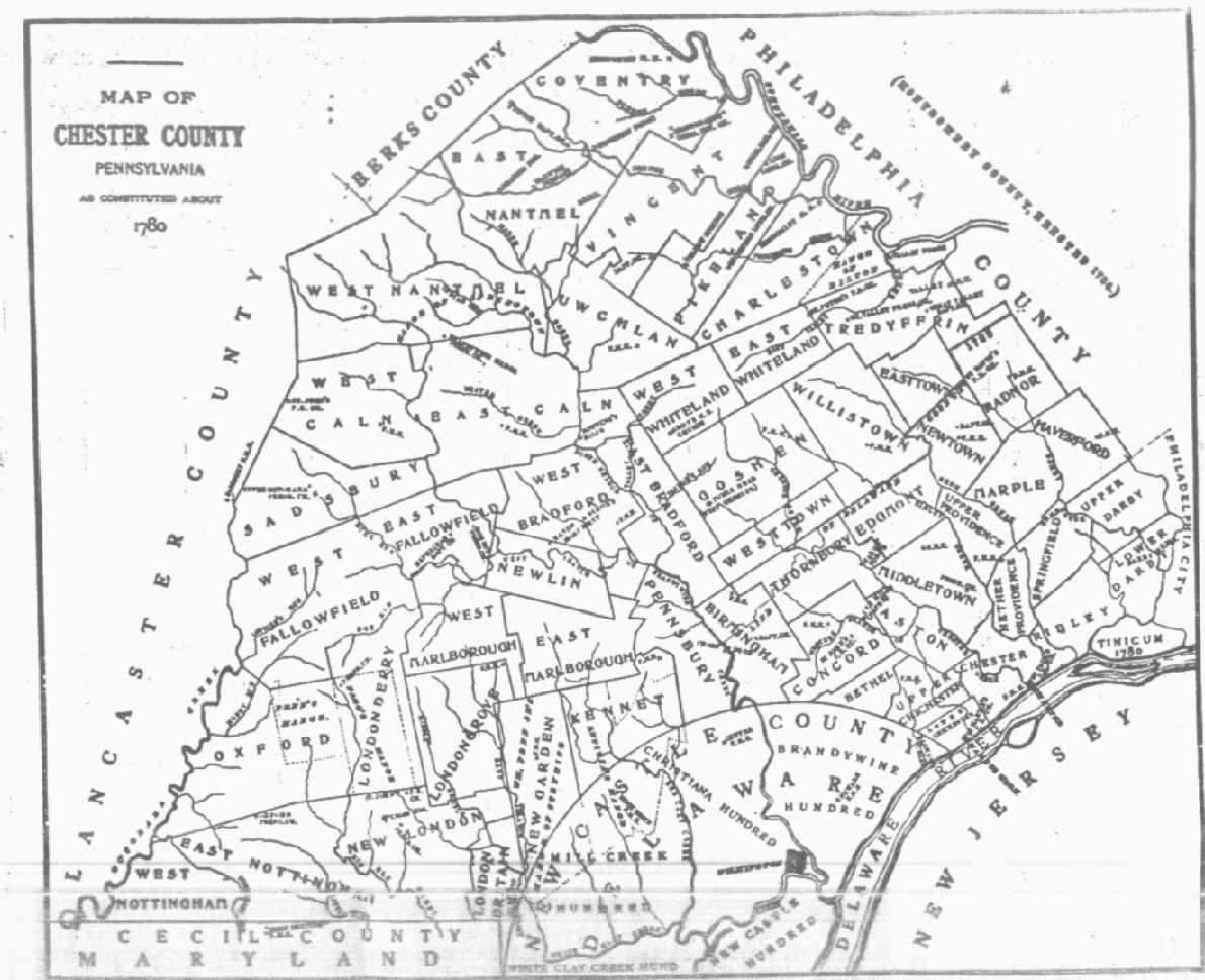 Chester County Pennsylvania Maps