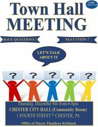 hall town meeting event chester pa events