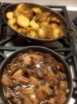 potatoes and mushrooms