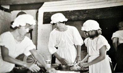At historic Harriton House circa 1976 - 1977