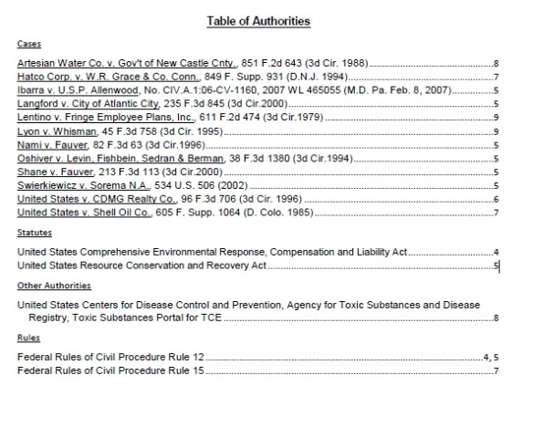 Table of Auth