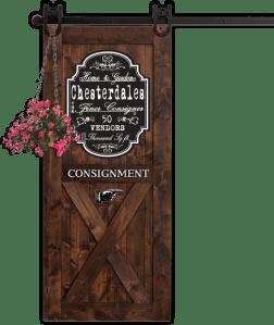 Barn Door with Flowers