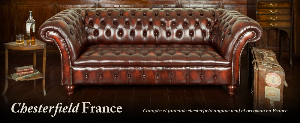 Canape Cuir Anglais Chesterfield Occasion