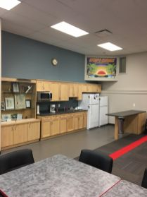 A kitchen and accessible washrooms are also in the Common room.