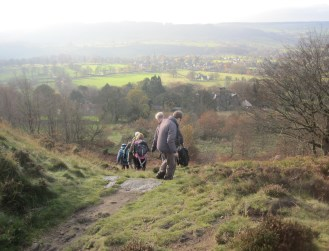 The descent to Ashover....