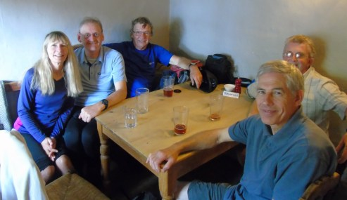 At the George, Alstonefield for refreshments
