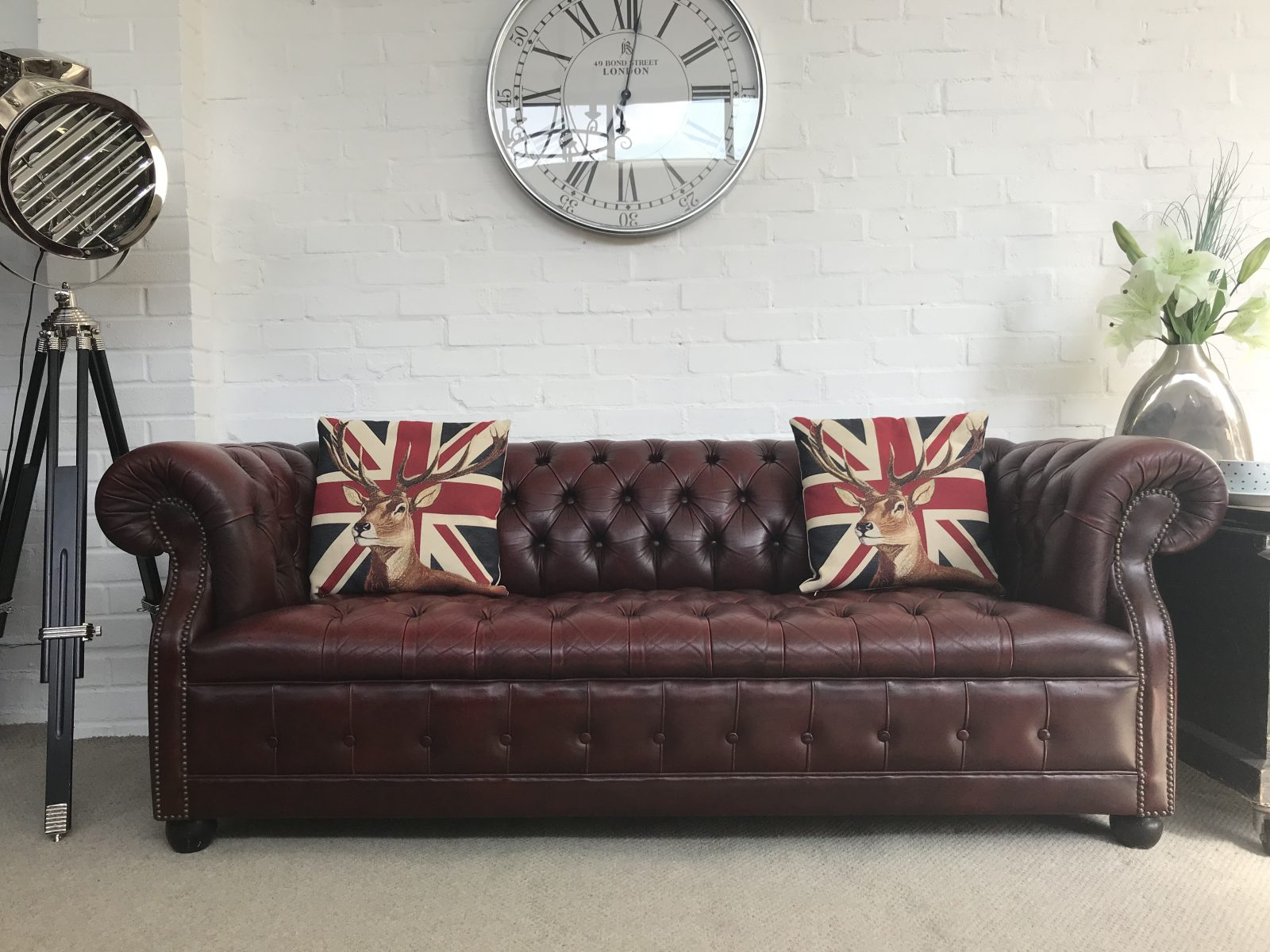 oxblood red chesterfield sofa craftmaster construction chesterfields at the boathouse  vintage sofas