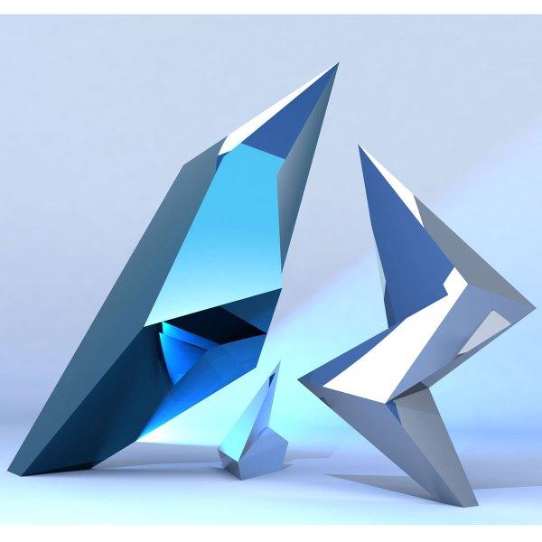 Jagged Contemporary Modern Interior Design Sculpture