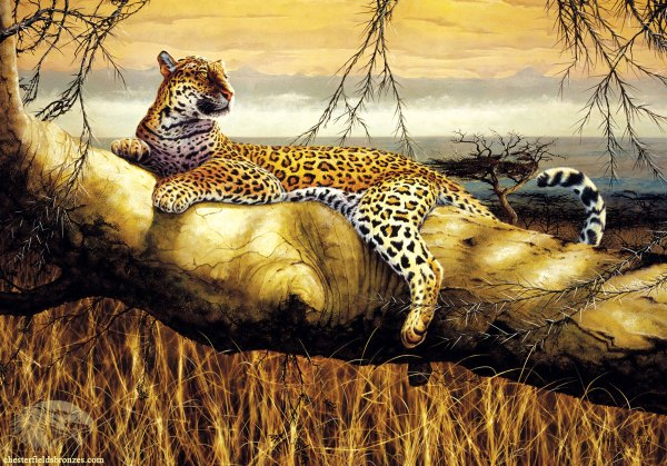 """solitary Hunter"" Leopard Wildlife Art Painting"