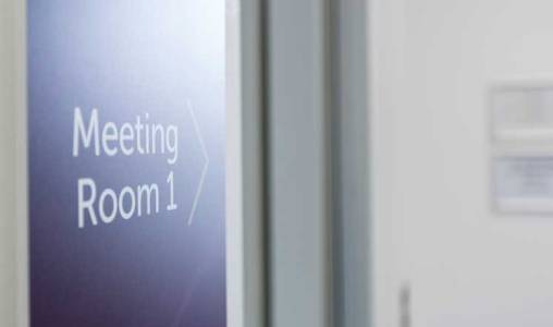 Assembly Rooms Meeting Room 1 Sign