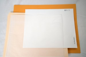 8x10 Filter Packaging: Filter in Glassine in Folder in Envelope