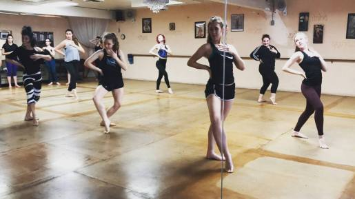 Learning some new combinations at Palm Springs Dance Festival