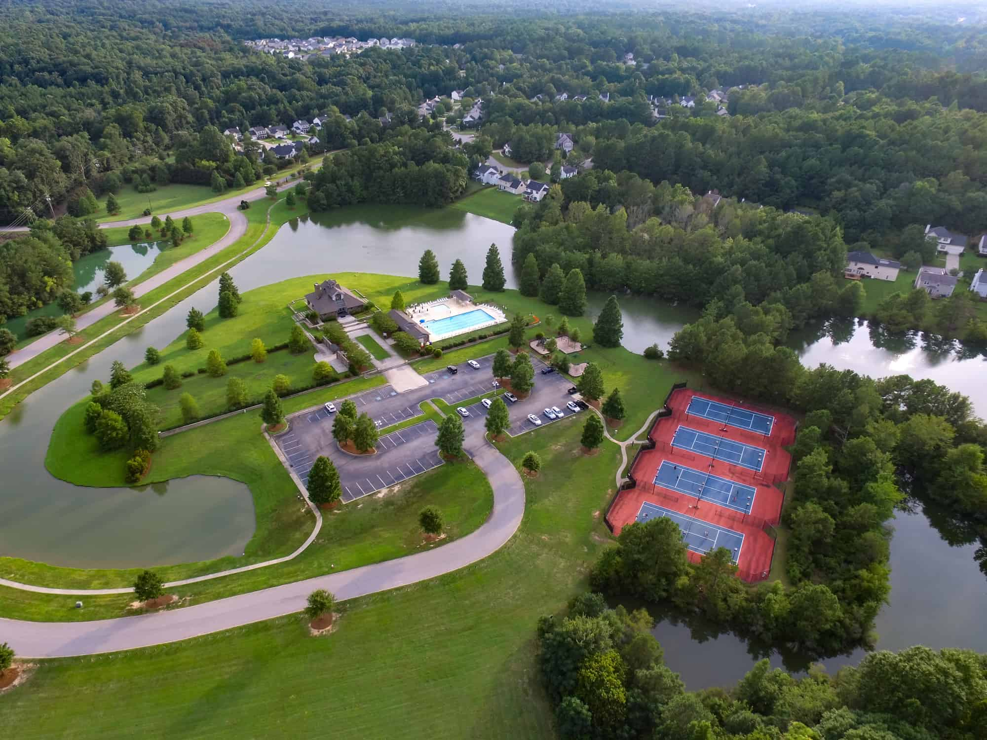 Overhead View Of CHPHOA Clubhouse and tennis courts