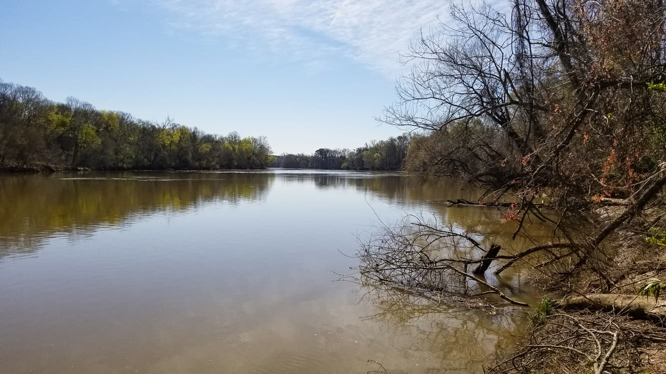 Hike on over to the Broad river and drop a line or put in your kayak at the private residential boat ramp