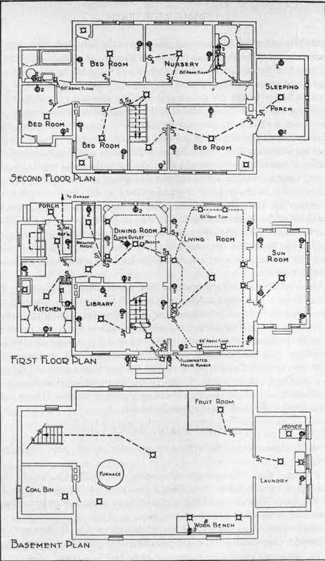 wiring plan for a typical residence