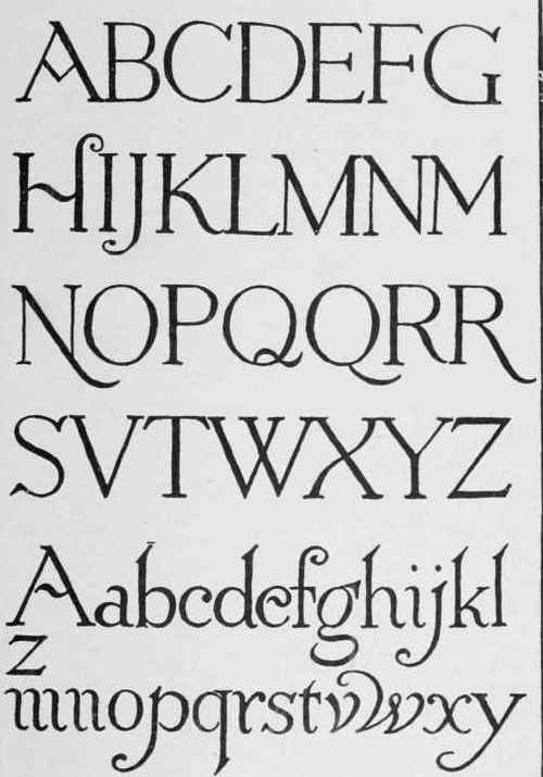 Classic Roman Letters. Continued