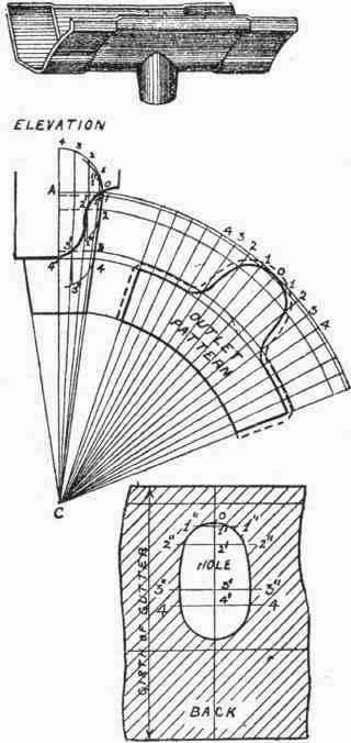 Half-Round Gutter Nozzle