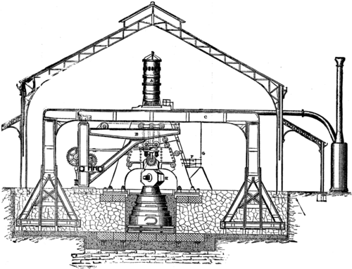New Eighty Ton Steam Hammer At The Saint Chamond Works