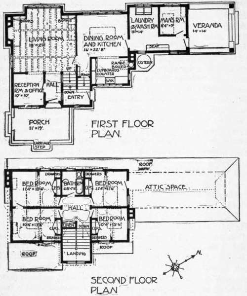 Plan Of Farm House