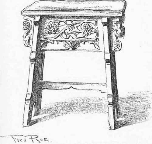 Oaken Chairs And Stools From The Thirteenth Century To The
