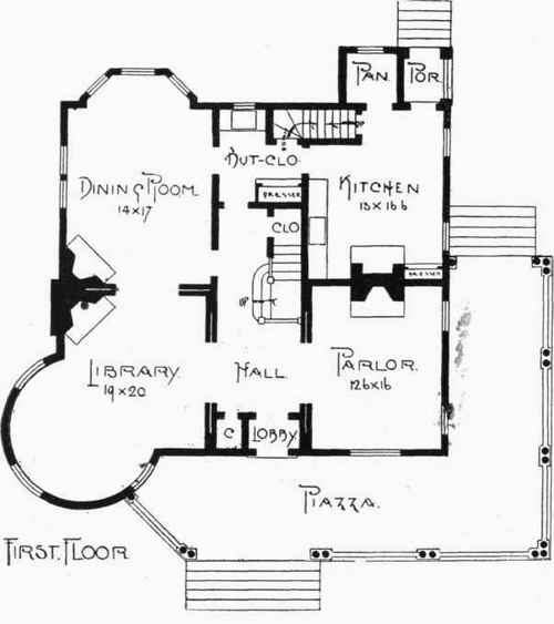 Floor And Framing Plans For W. A. Sylvester's House