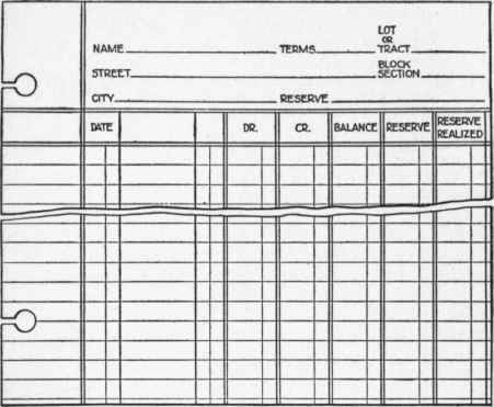 Section 23. Subdivision Customers Ledgers