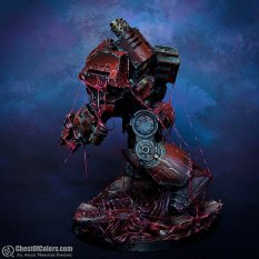 Blood Angels Contemptor Dreadnought in blood rage